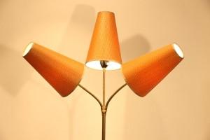 haut lampadaire 3 têtes années 50