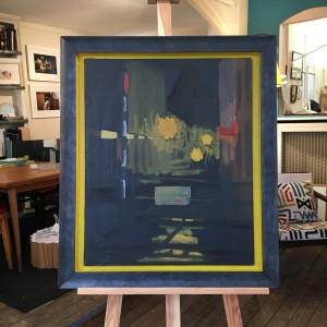 Encadrement jaune et noir caisse américaine Batignolles