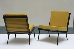 fauteuils jaune années 50 lartetlafacon