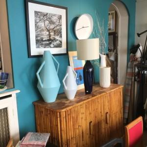 Vases céramique décoration vintage batignolles place de clichy