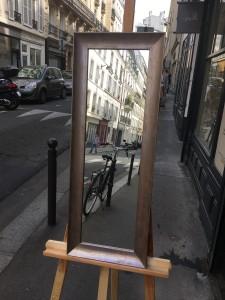 cadre sur mesure place de clichy miroir argent essuyé