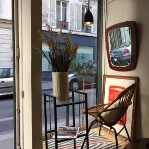 ruenollet_boutique_brocante_rotin_chaise_enfant_miroir_teck_lithographie_ipad_galeriedart_encadrement_paris_lartetlafacon