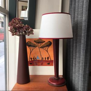 automne borla pins parasol vase ceramique lampe adnet vintage lartetlafacon