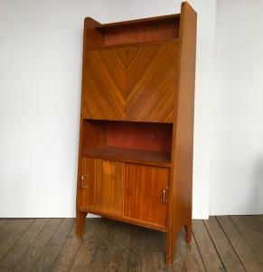 secretaire meuble rangement vintage annees50 usedfurniture paris galerie mobilier rangement secondemain lartetlafaçon