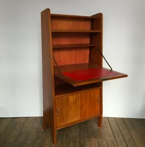 secretaire meuble rangement vintage annees50 usedfurniture paris galerie mobilier rangement secondemain lartetlafacon rue nollet