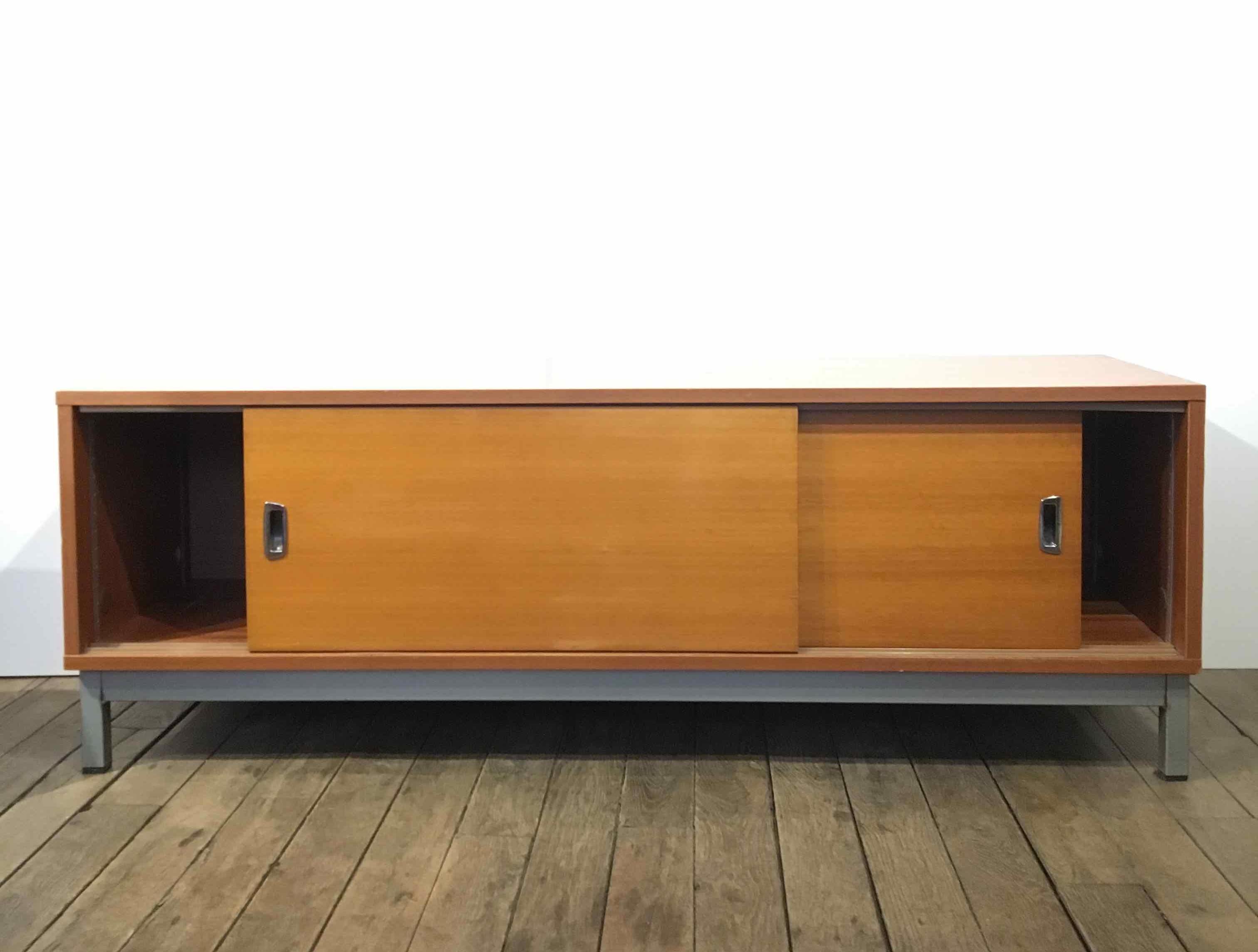 Meuble Buffet Année 50 enfilade vintage style knoll - l'art & la façon